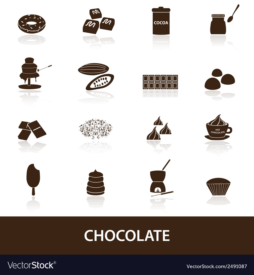 Chocolate icons set eps10 vector | Price: 1 Credit (USD $1)