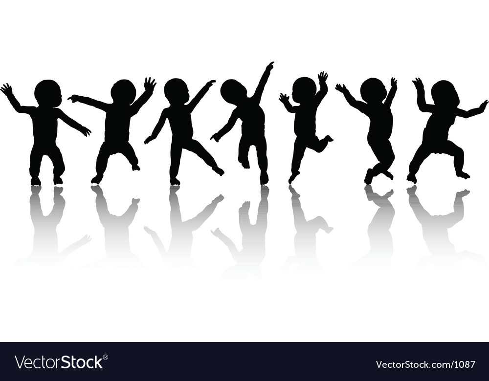 Dancing babies vector | Price: 1 Credit (USD $1)