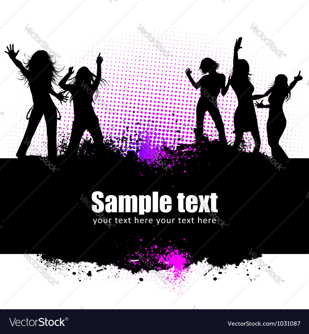 Dancing young people vector | Price: 1 Credit (USD $1)