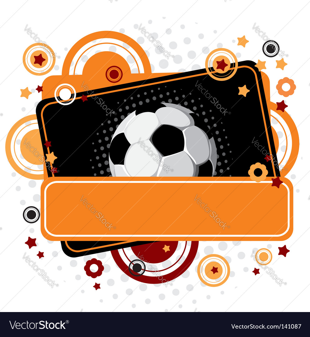 Festive soccer background vector | Price: 1 Credit (USD $1)
