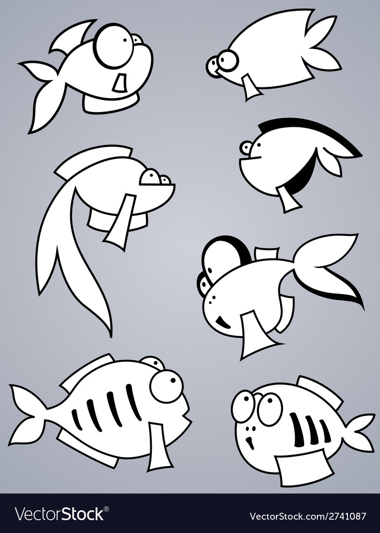 Fish set vector | Price: 1 Credit (USD $1)