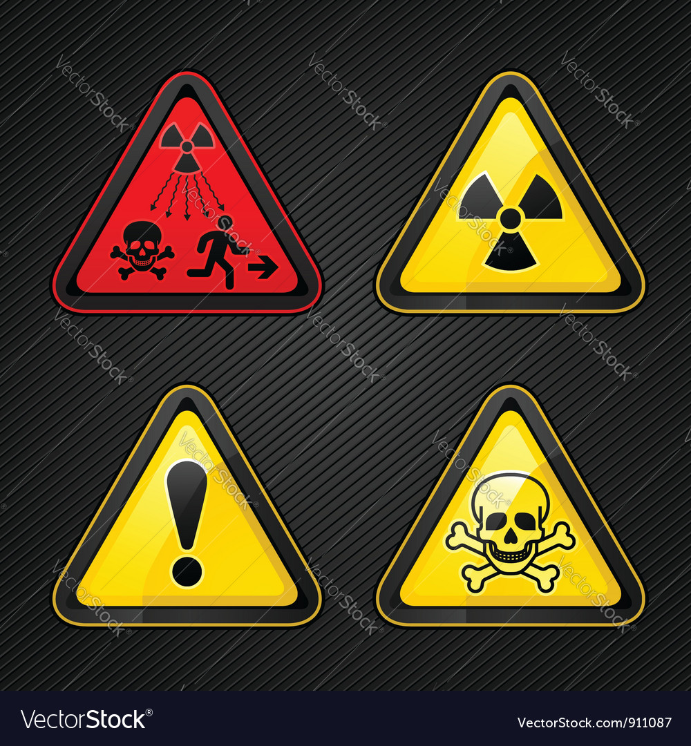 Hazard warning set vector | Price: 1 Credit (USD $1)