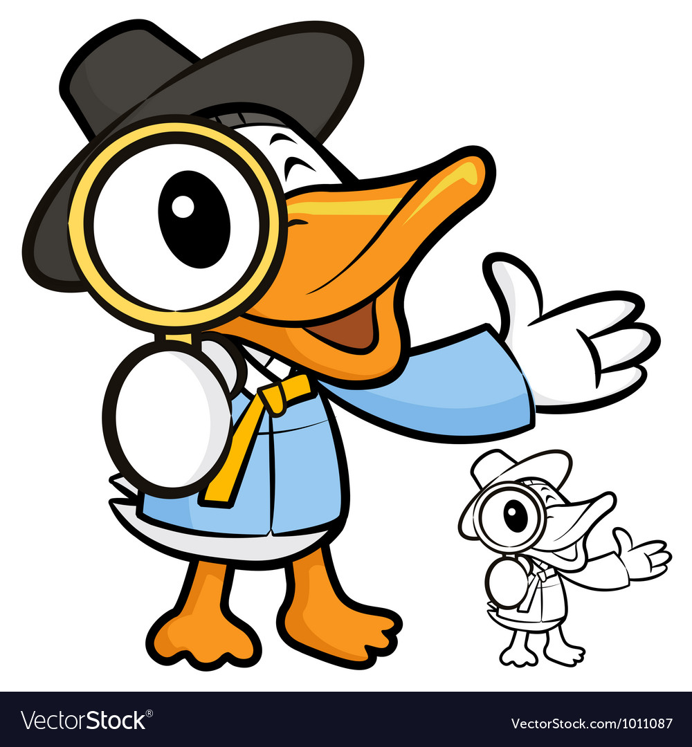 The magnifying glass to see the duck vector | Price: 3 Credit (USD $3)