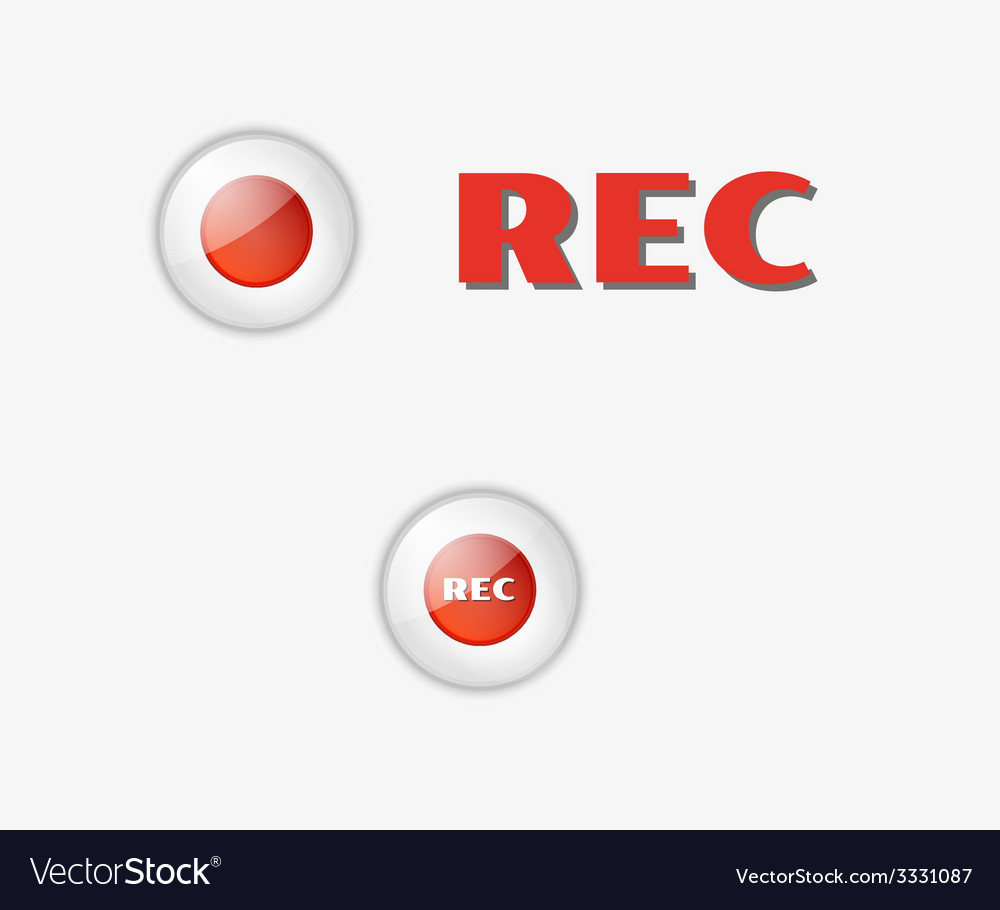 Rec button vector | Price: 1 Credit (USD $1)
