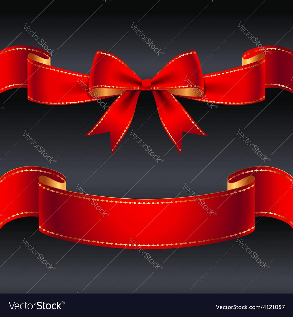 Ribbon red border vector | Price: 1 Credit (USD $1)