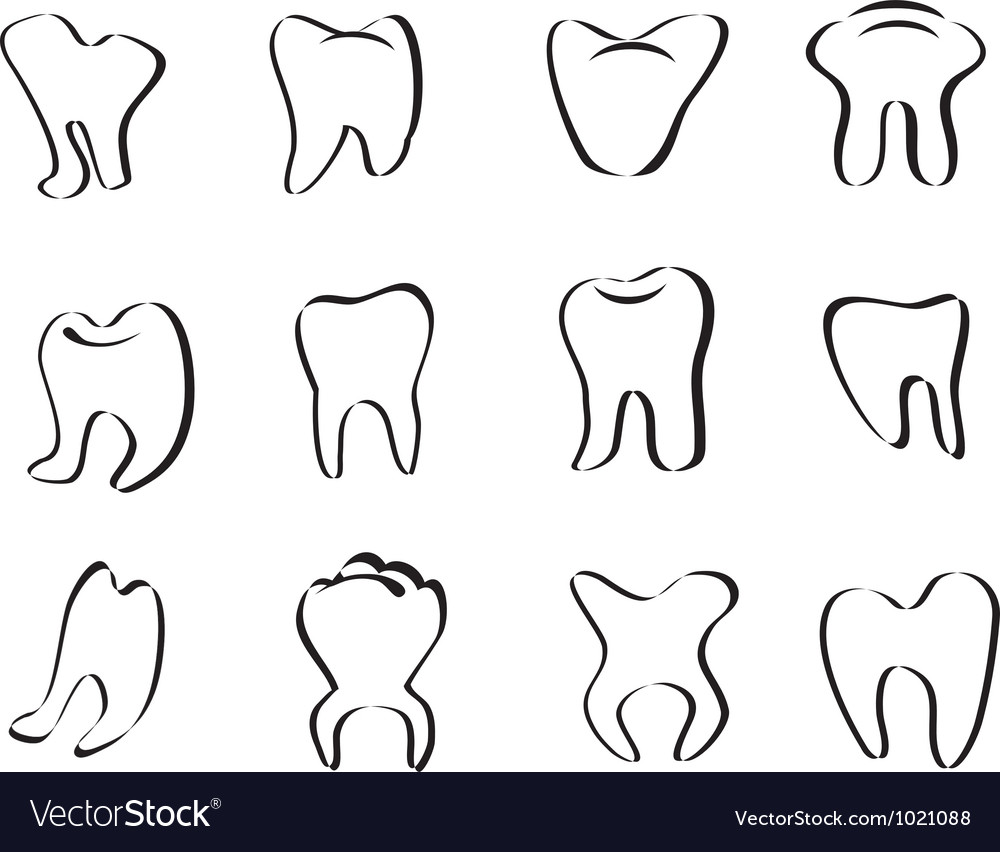 Abstract tooth icon vector | Price: 1 Credit (USD $1)