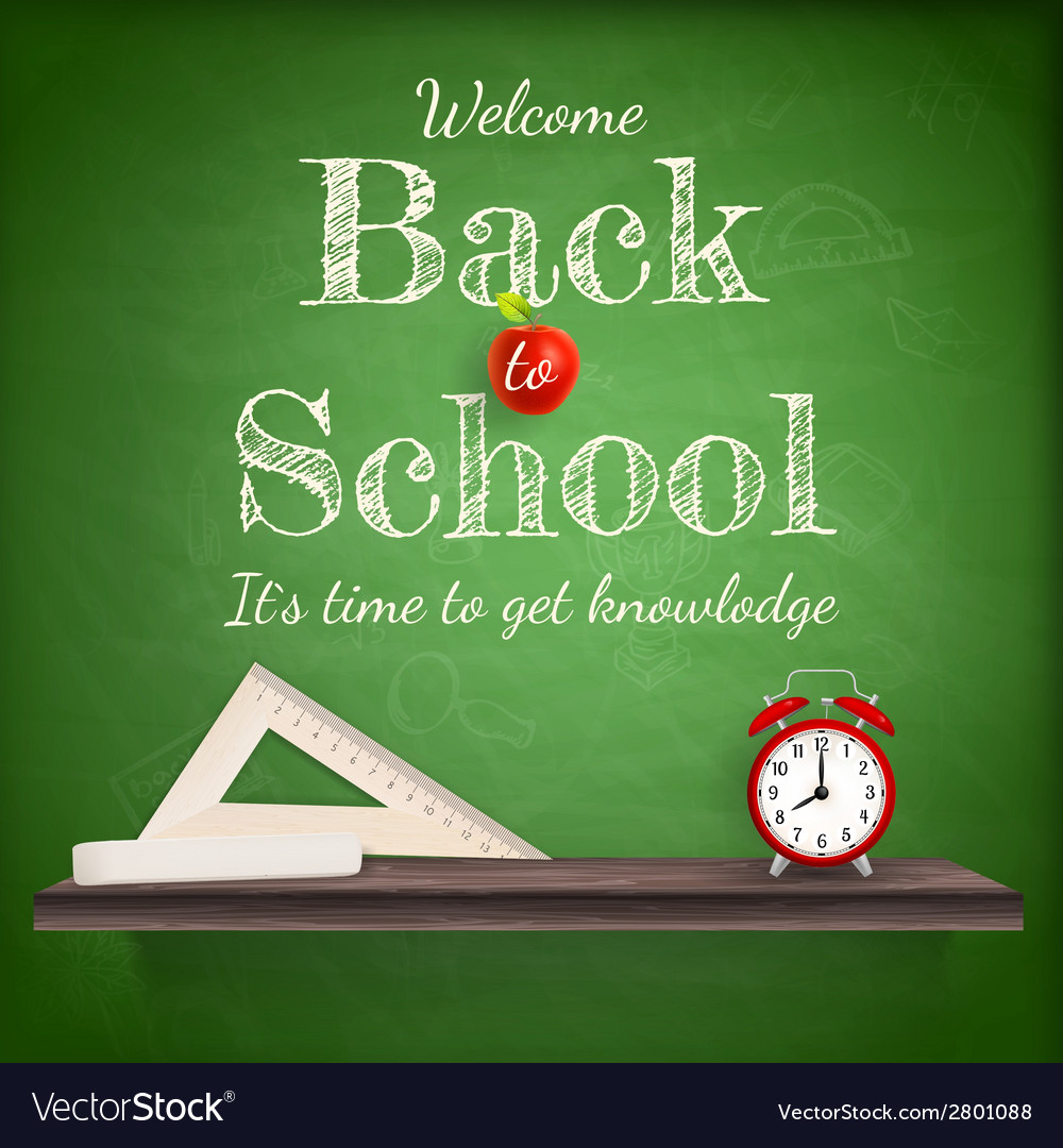 Back to school background template eps 10 vector | Price: 1 Credit (USD $1)