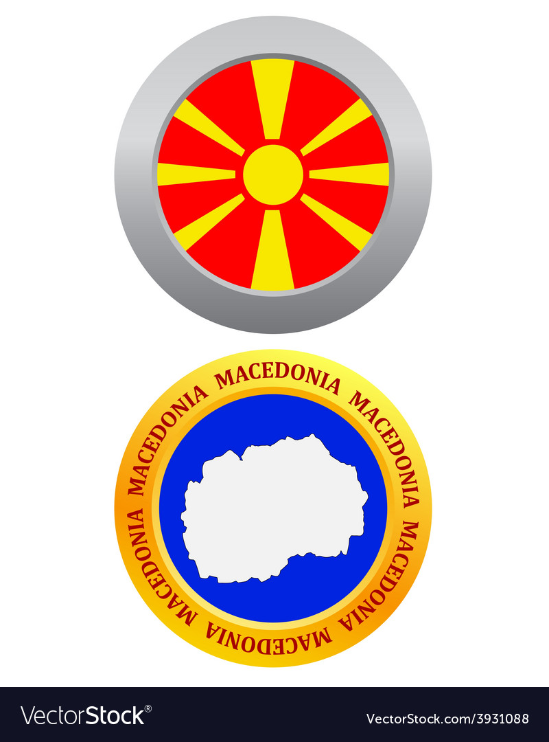 Button as a symbol macedonia vector | Price: 1 Credit (USD $1)