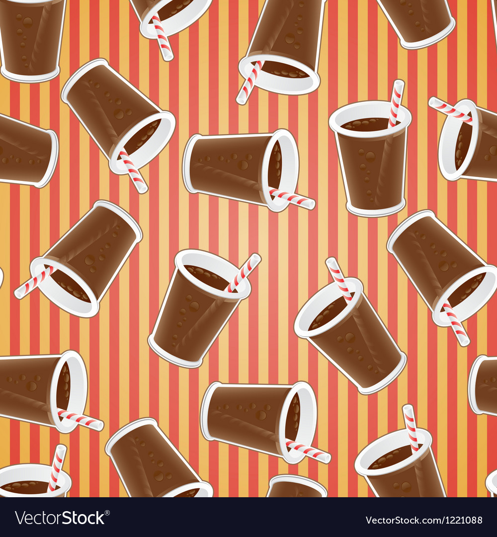 Fast food seamless pattern background vector   Price: 1 Credit (USD $1)