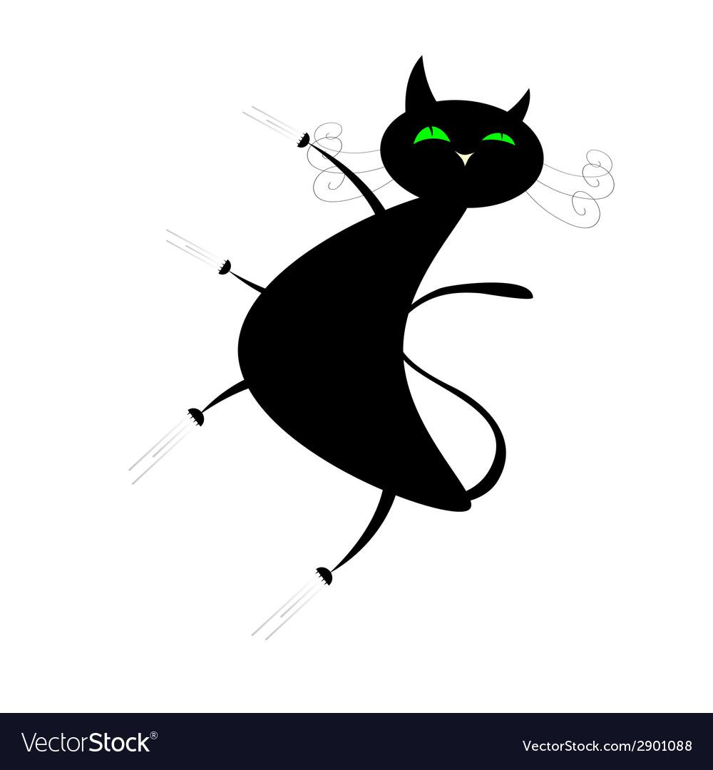 Funny black cat vector | Price: 1 Credit (USD $1)