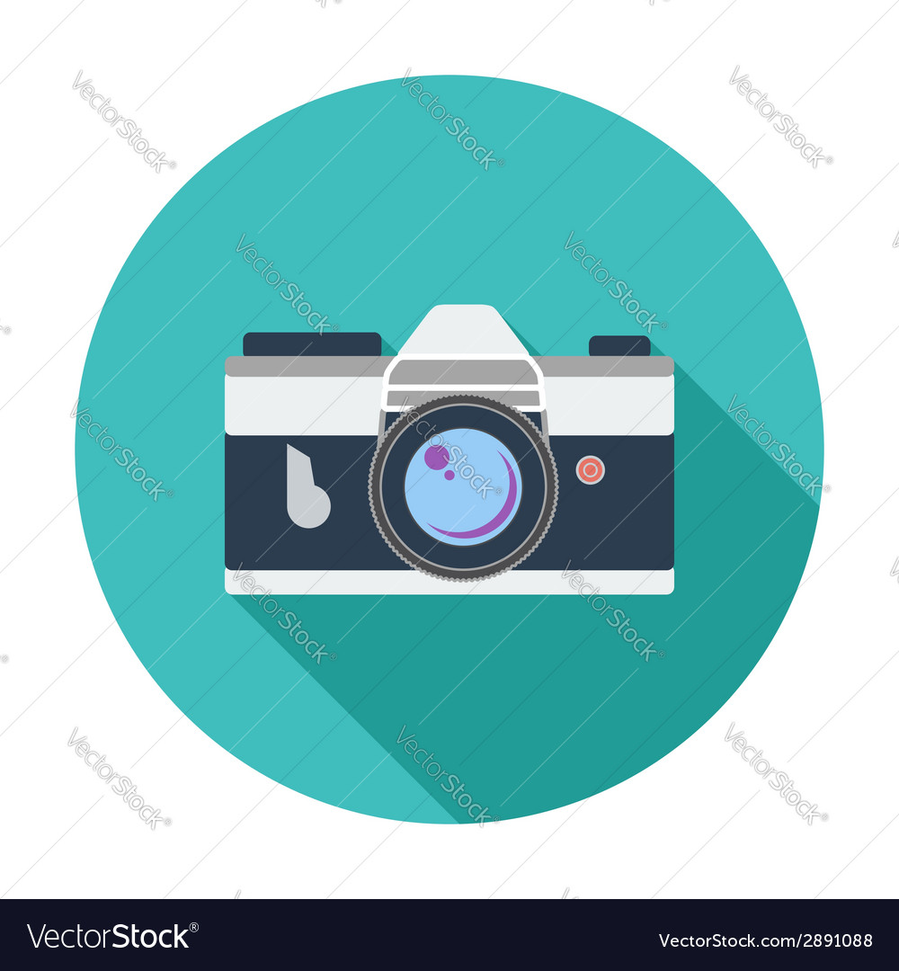 Icon vintage camera vector | Price: 1 Credit (USD $1)