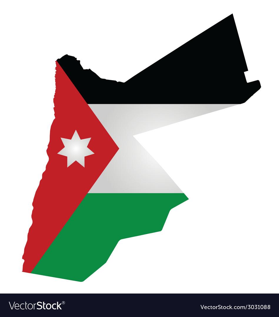 Jordan flag vector   Price: 1 Credit (USD $1)