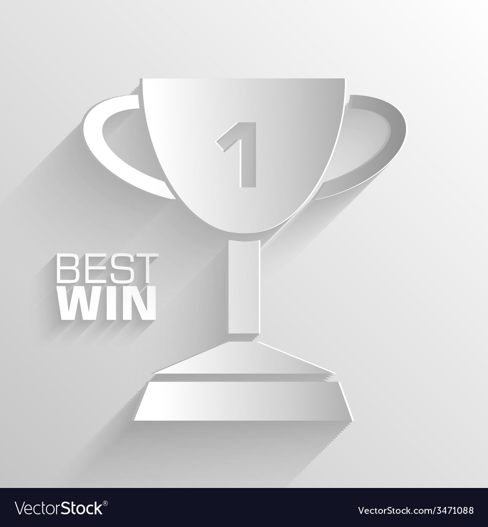 Paper trophy background concept tamplate fo vector | Price: 1 Credit (USD $1)