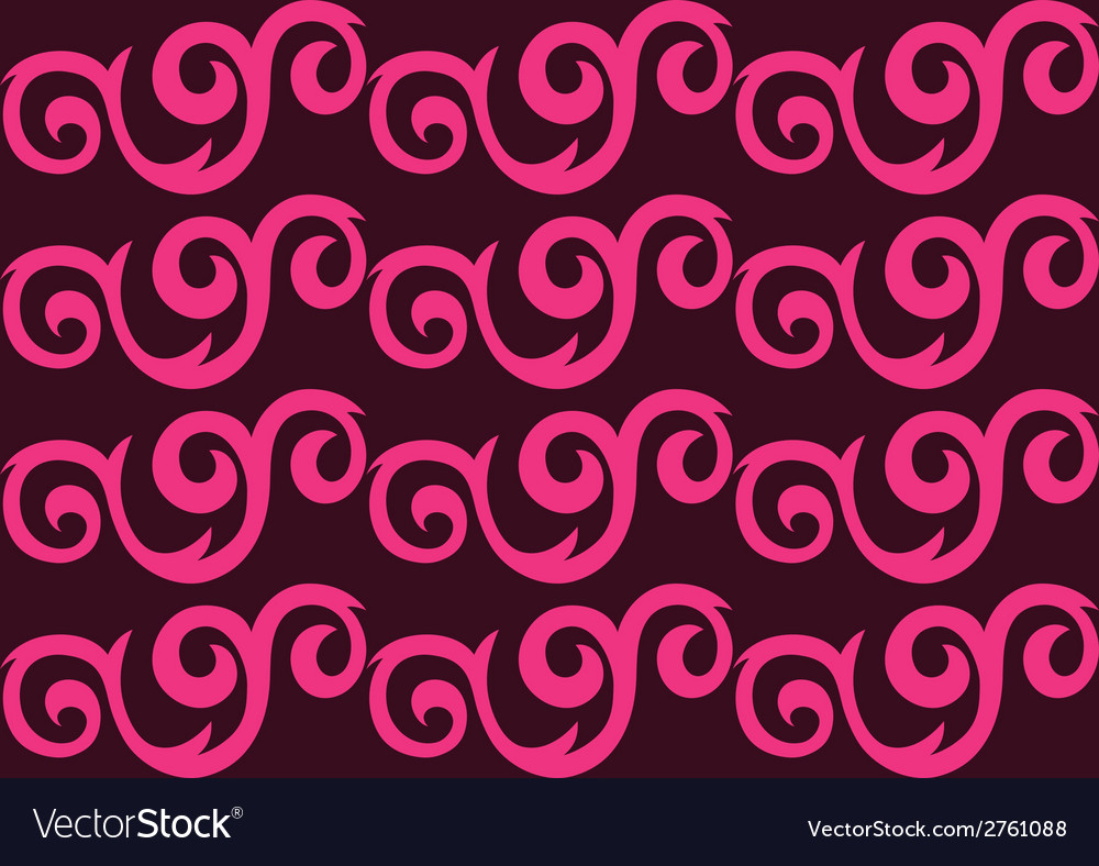 Pink ornate seamless pattern vector | Price: 1 Credit (USD $1)