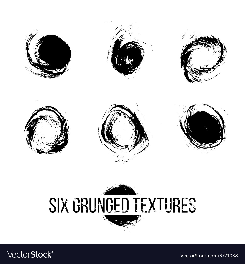 Set of grunged dots vector | Price: 1 Credit (USD $1)