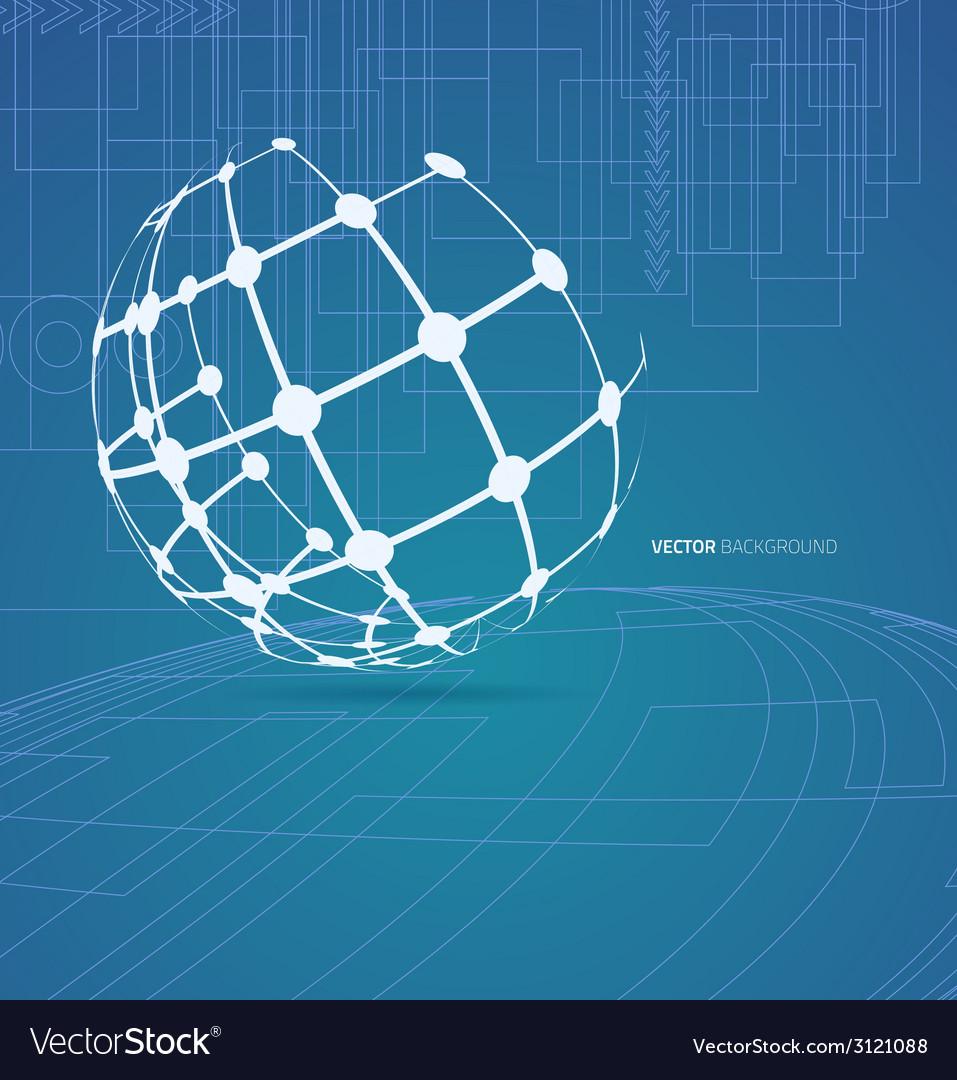Techno globe background vector   Price: 1 Credit (USD $1)