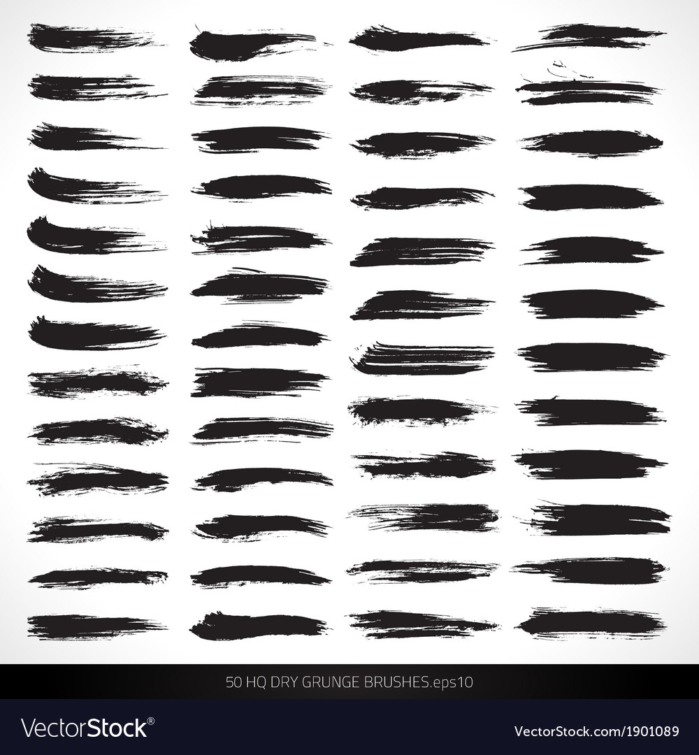 50 hq dry grunge brushes vector | Price: 1 Credit (USD $1)