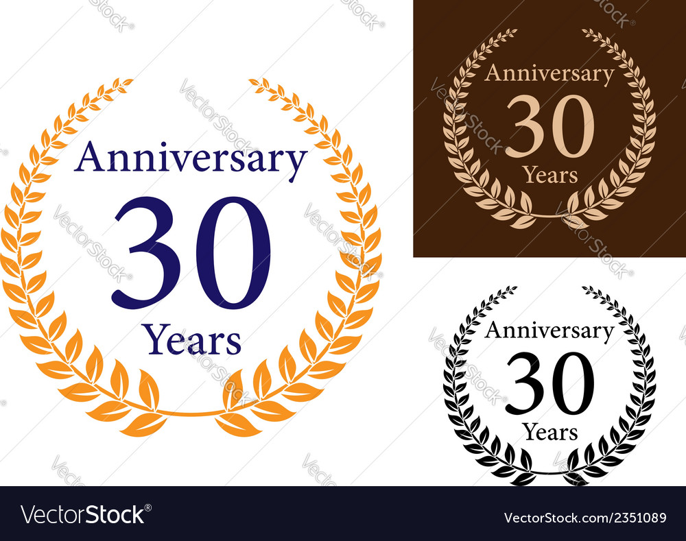 Anniversary laurel wreathes vector | Price: 1 Credit (USD $1)