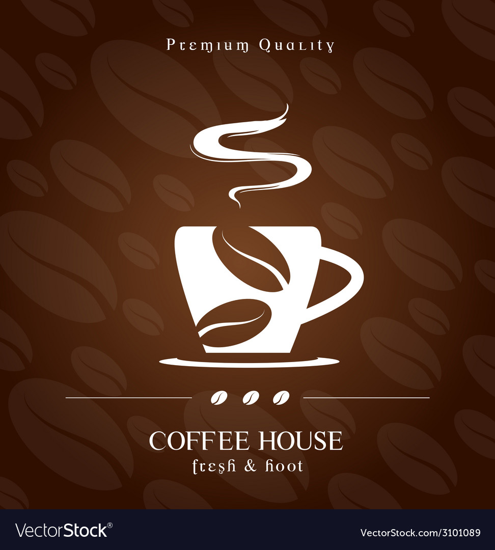 Coffee house cover presentation vector