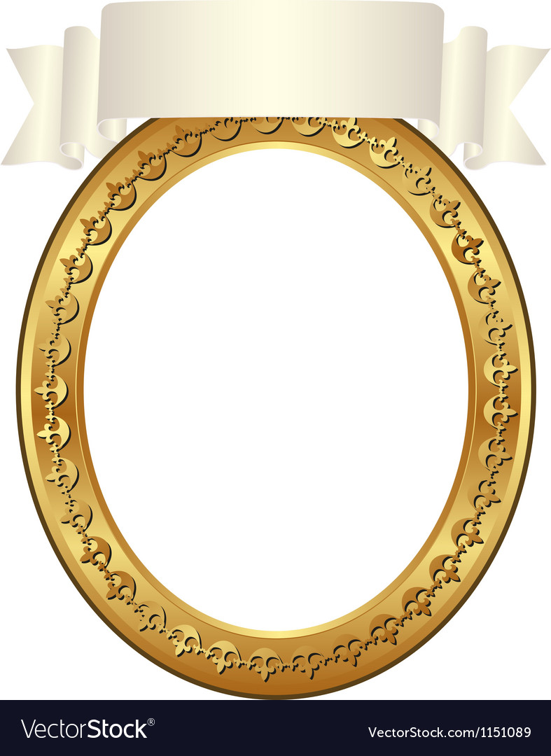 Frame oval vector | Price: 1 Credit (USD $1)