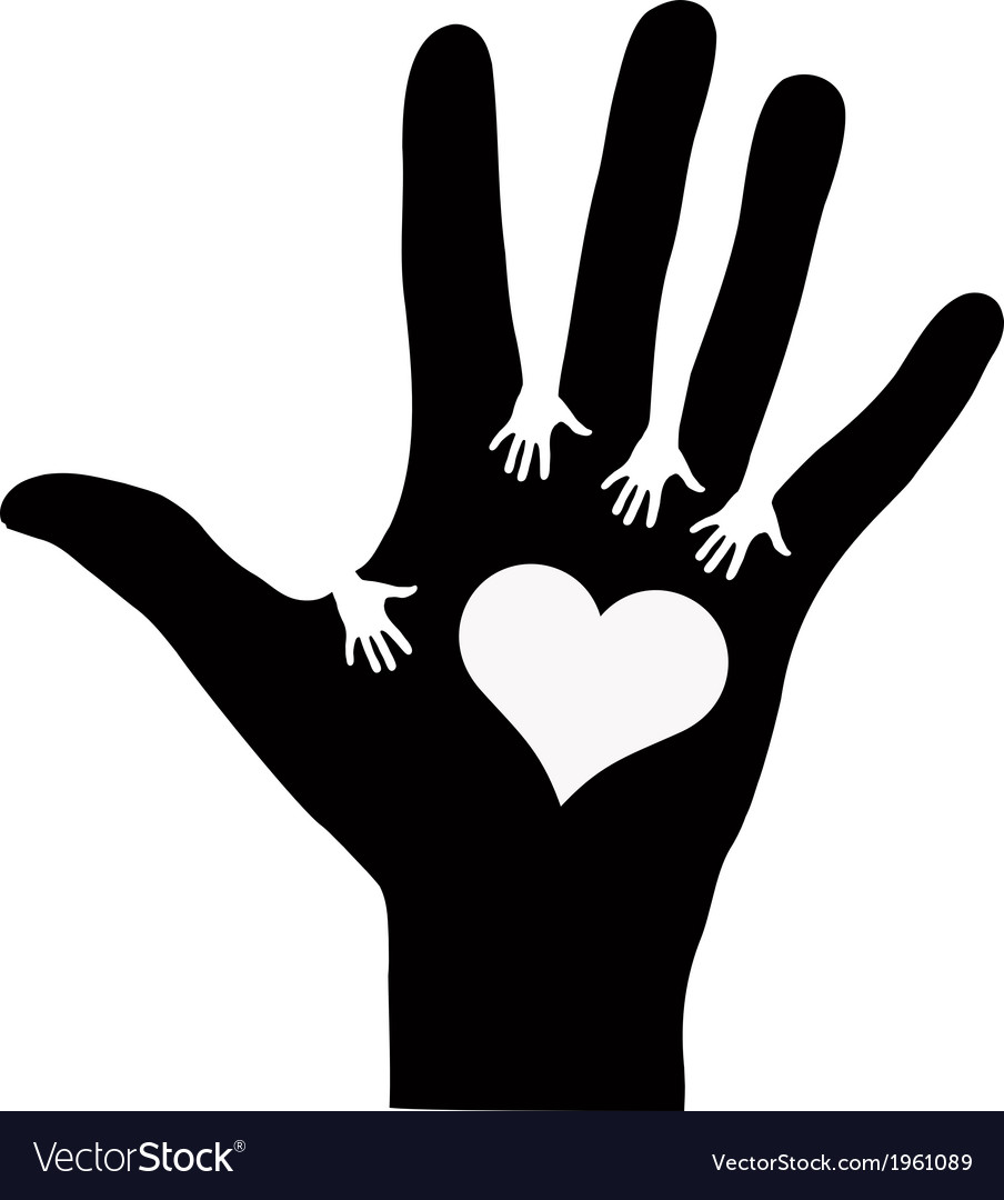 Hands reaching each other vector | Price: 1 Credit (USD $1)