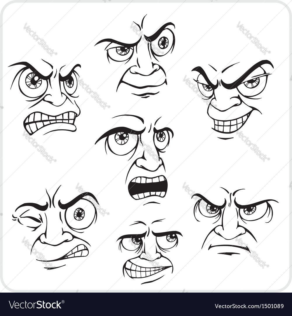 Negative emotions - set vector | Price: 1 Credit (USD $1)