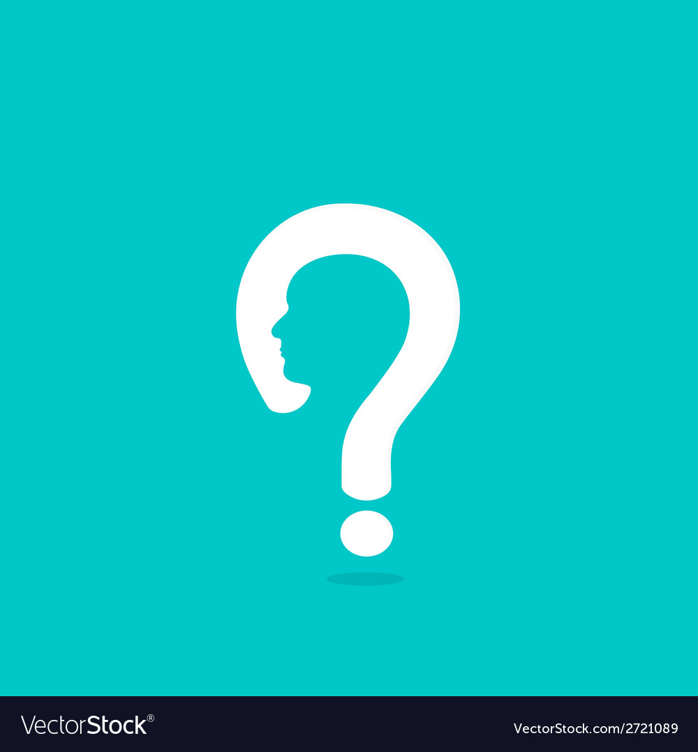 Question mark man head symbol vector | Price: 1 Credit (USD $1)