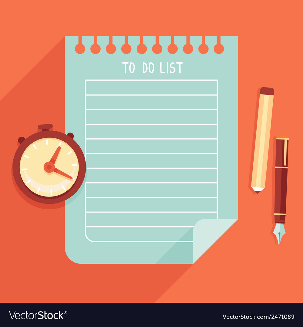 To do list vector | Price: 1 Credit (USD $1)