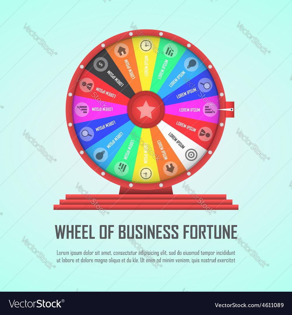 Wheel of fortune infographic design element vector | Price: 1 Credit (USD $1)