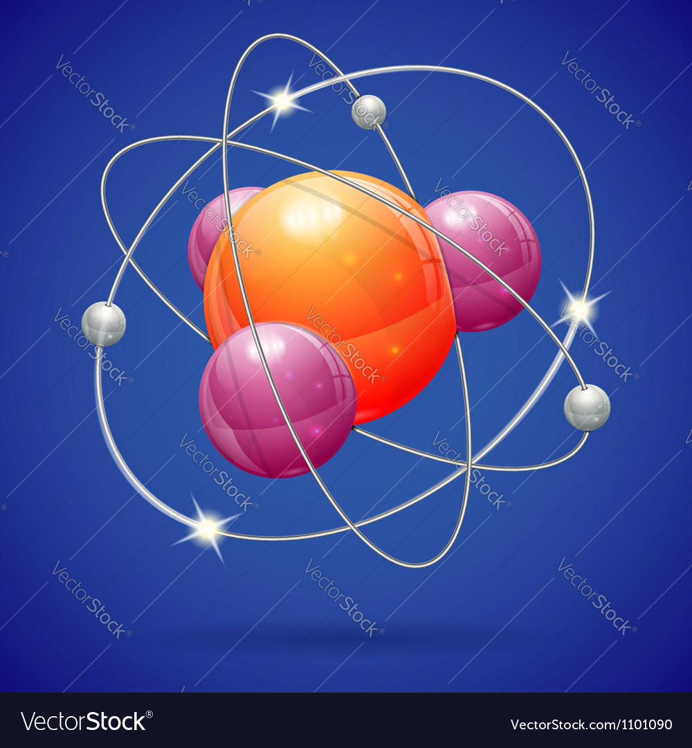 Atom model vector | Price: 1 Credit (USD $1)