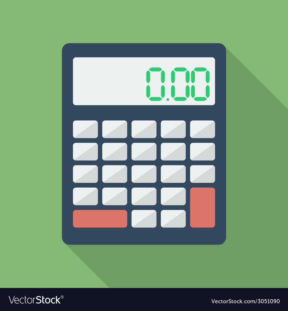 Calculator icon modern flat style with a long vector | Price: 1 Credit (USD $1)