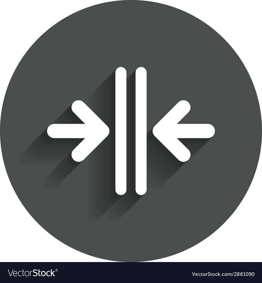 Close the door sign icon control in the elevator vector   Price: 1 Credit (USD $1)