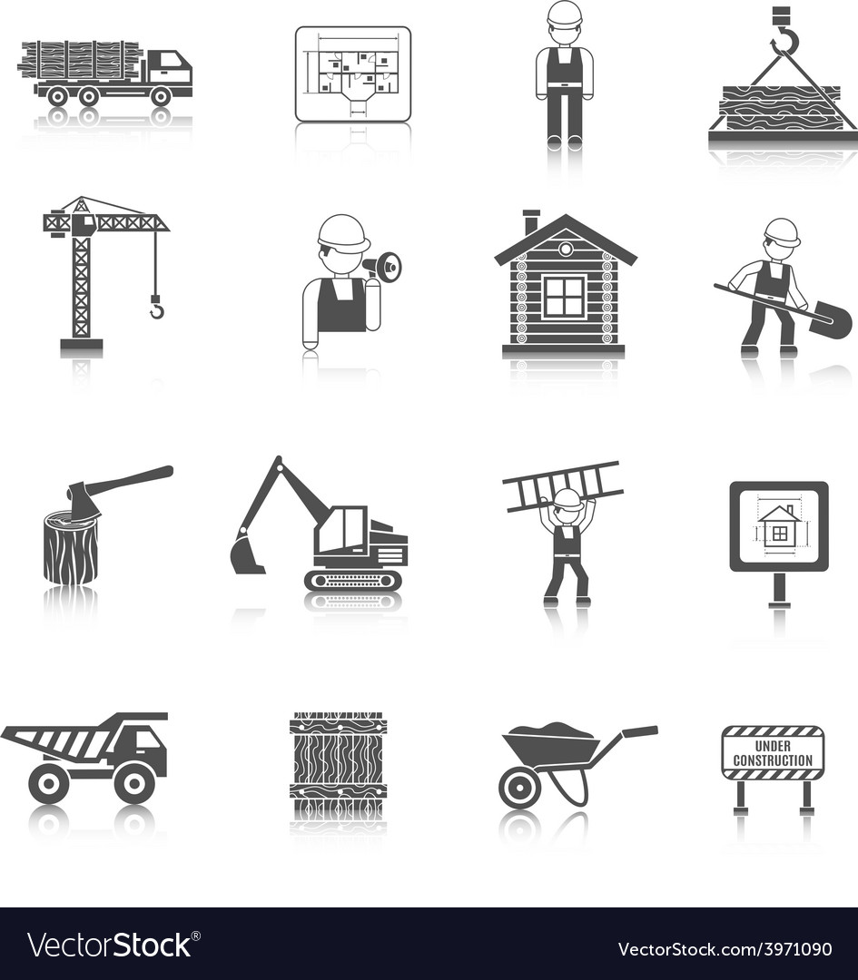 Construction icons black vector | Price: 1 Credit (USD $1)