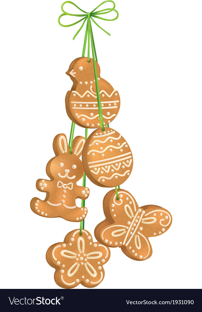 Easter biscuits vector | Price: 1 Credit (USD $1)