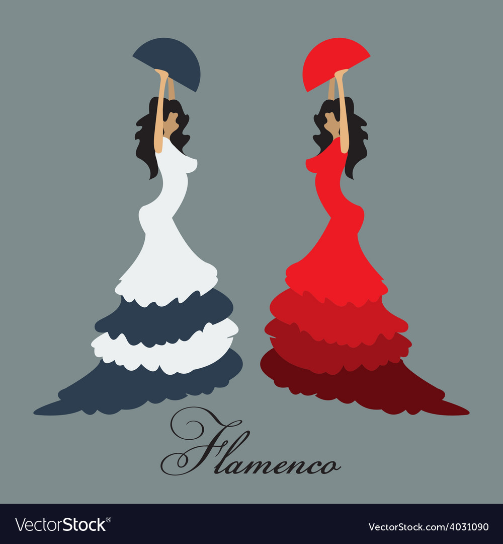 Flamenco woman vector | Price: 1 Credit (USD $1)