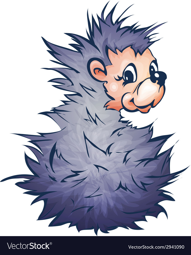 Hadgehog in cartoon style vector | Price: 1 Credit (USD $1)