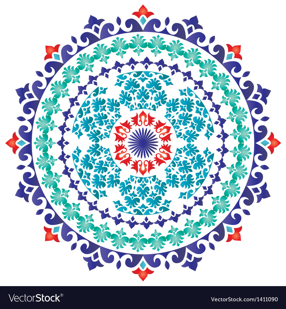Oriental pattern and ornaments 01 vector | Price: 1 Credit (USD $1)