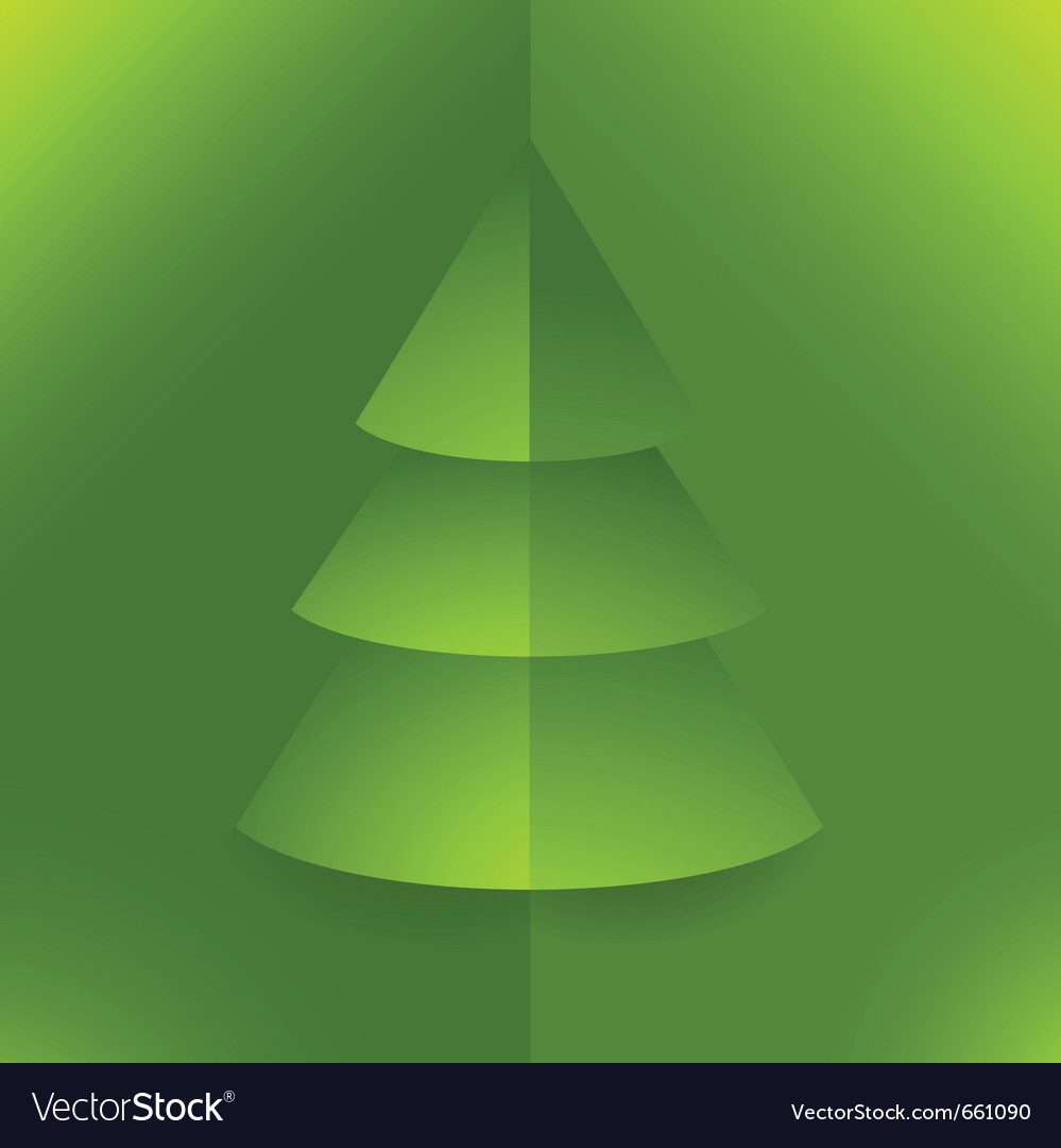 Pop up 3d paper christmas tree vector | Price: 1 Credit (USD $1)