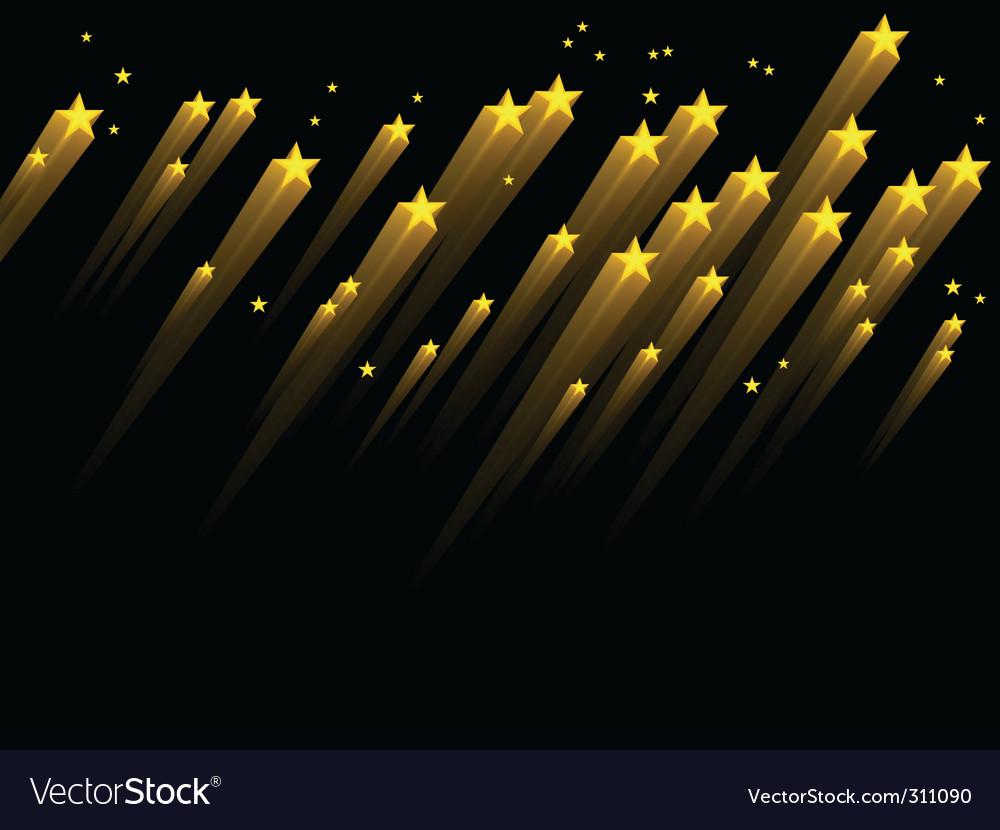 Shooting stars vector | Price: 1 Credit (USD $1)