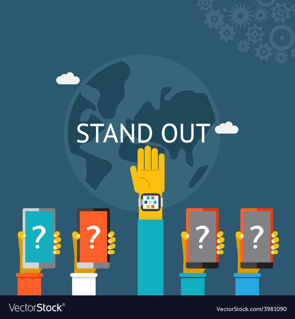 Standing out from the crowd vector | Price: 1 Credit (USD $1)