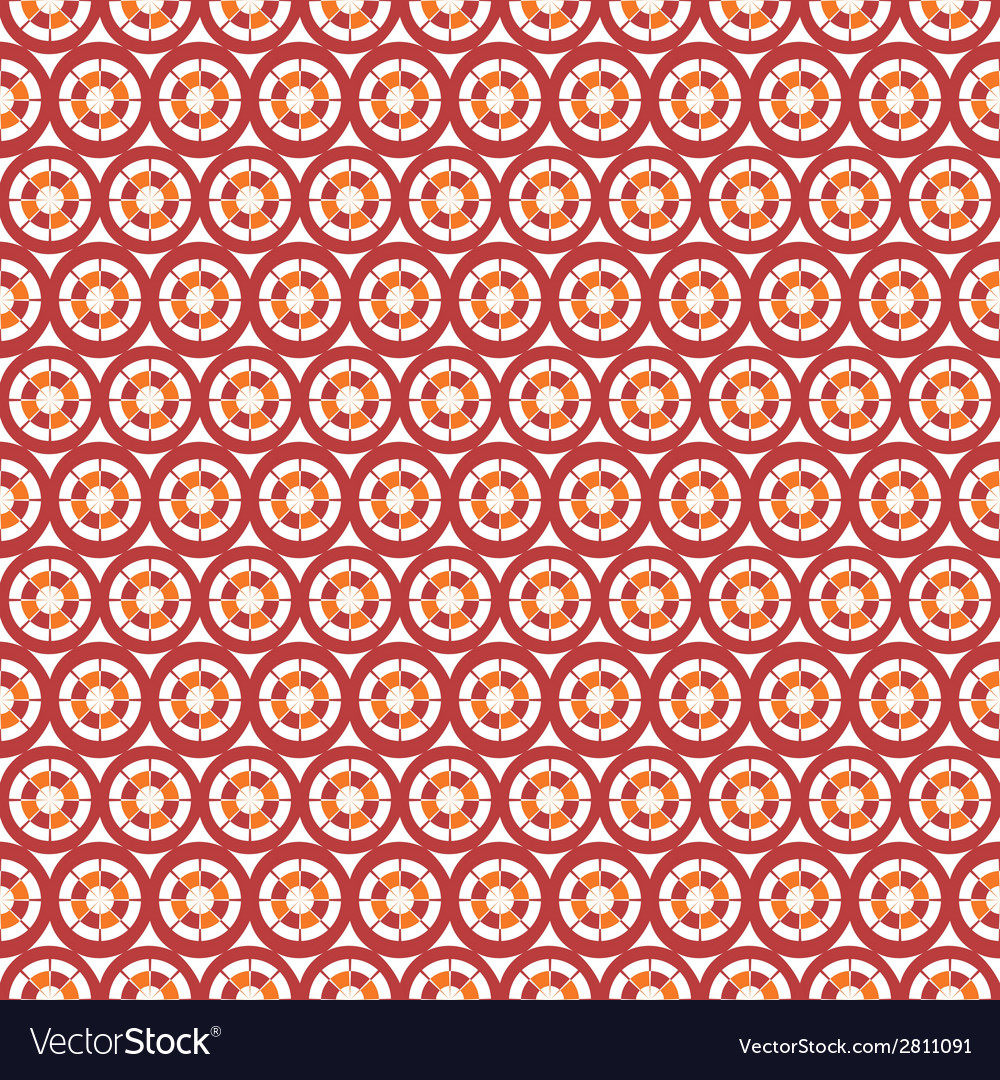 Abstract seamless circle and line pattern vector | Price: 1 Credit (USD $1)