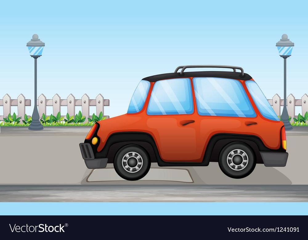 An orange car vector | Price: 1 Credit (USD $1)