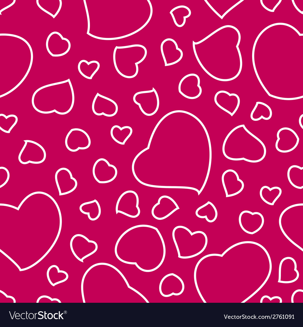 Bright pink valentines day seamless pattern vector | Price: 1 Credit (USD $1)