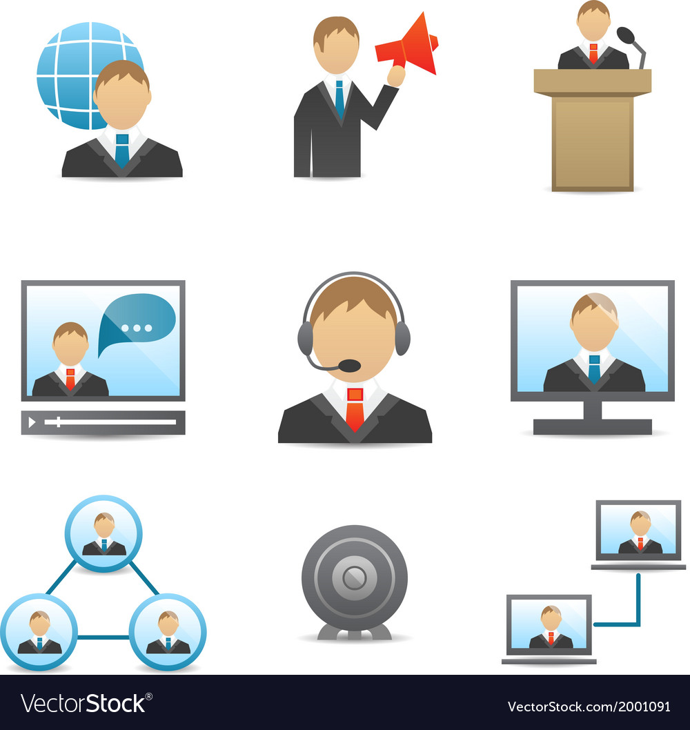 Business people icons set vector   Price: 1 Credit (USD $1)