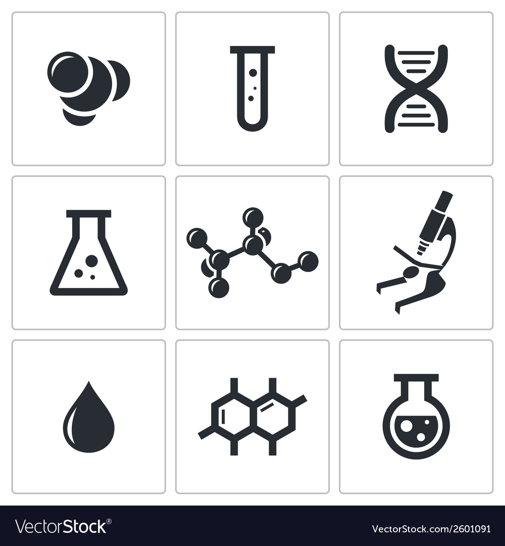 Chemistry icon collection vector | Price: 1 Credit (USD $1)