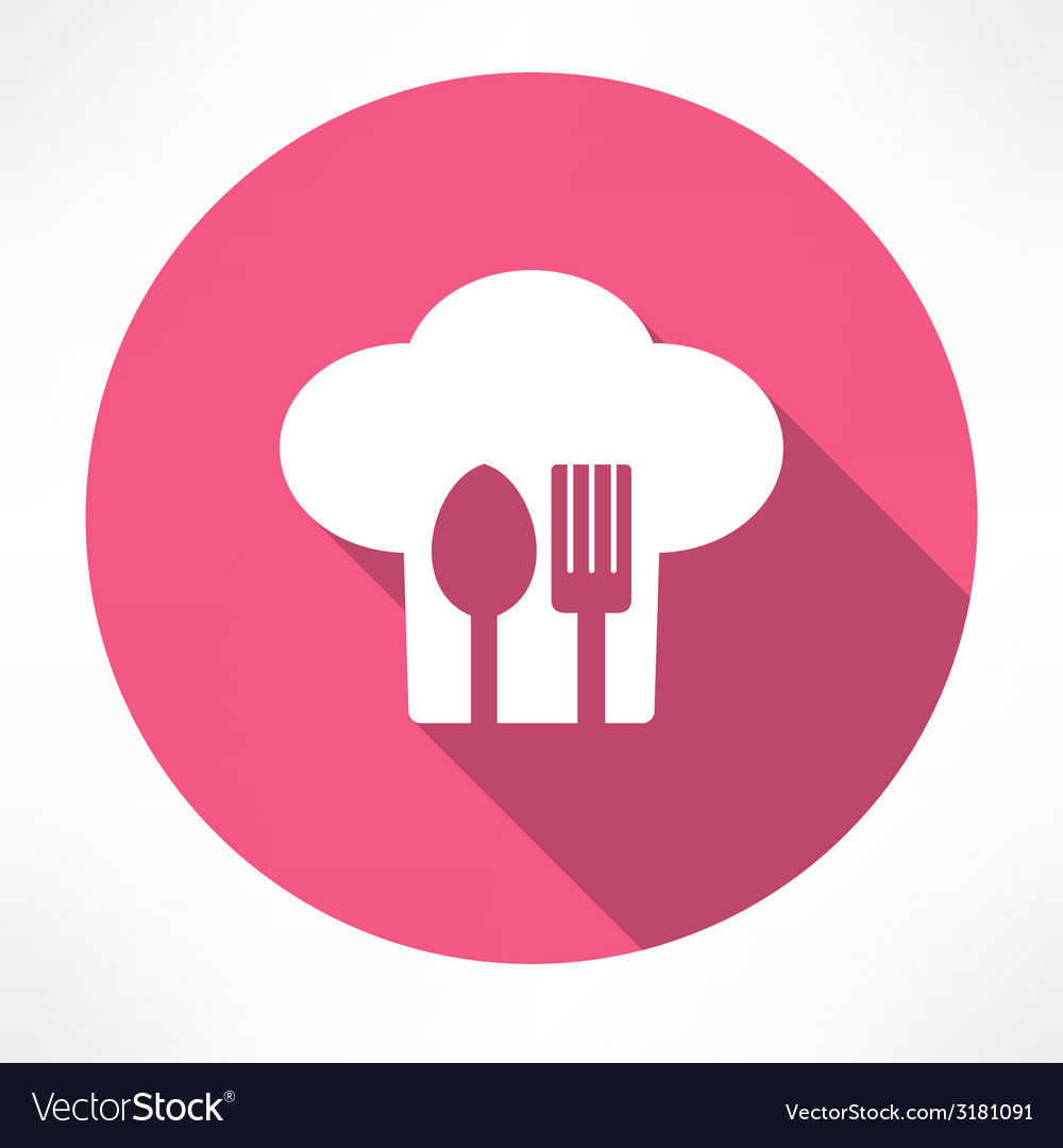 Cutlery and chef hat vector   Price: 1 Credit (USD $1)
