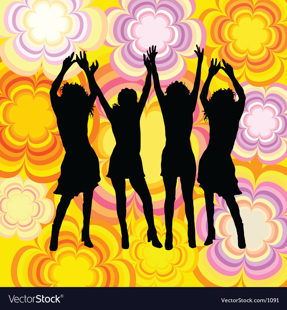 Dancing females vector | Price: 1 Credit (USD $1)