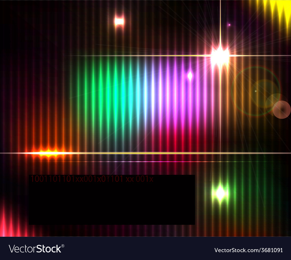 Dark abstract shiny technology spectrum background vector | Price: 1 Credit (USD $1)