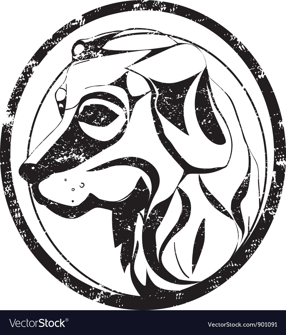 Dog stamp vector | Price: 1 Credit (USD $1)