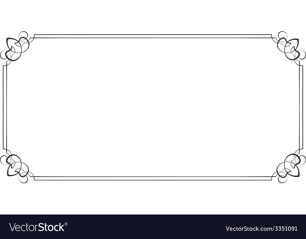 Horizontal frame element for design vector | Price: 1 Credit (USD $1)